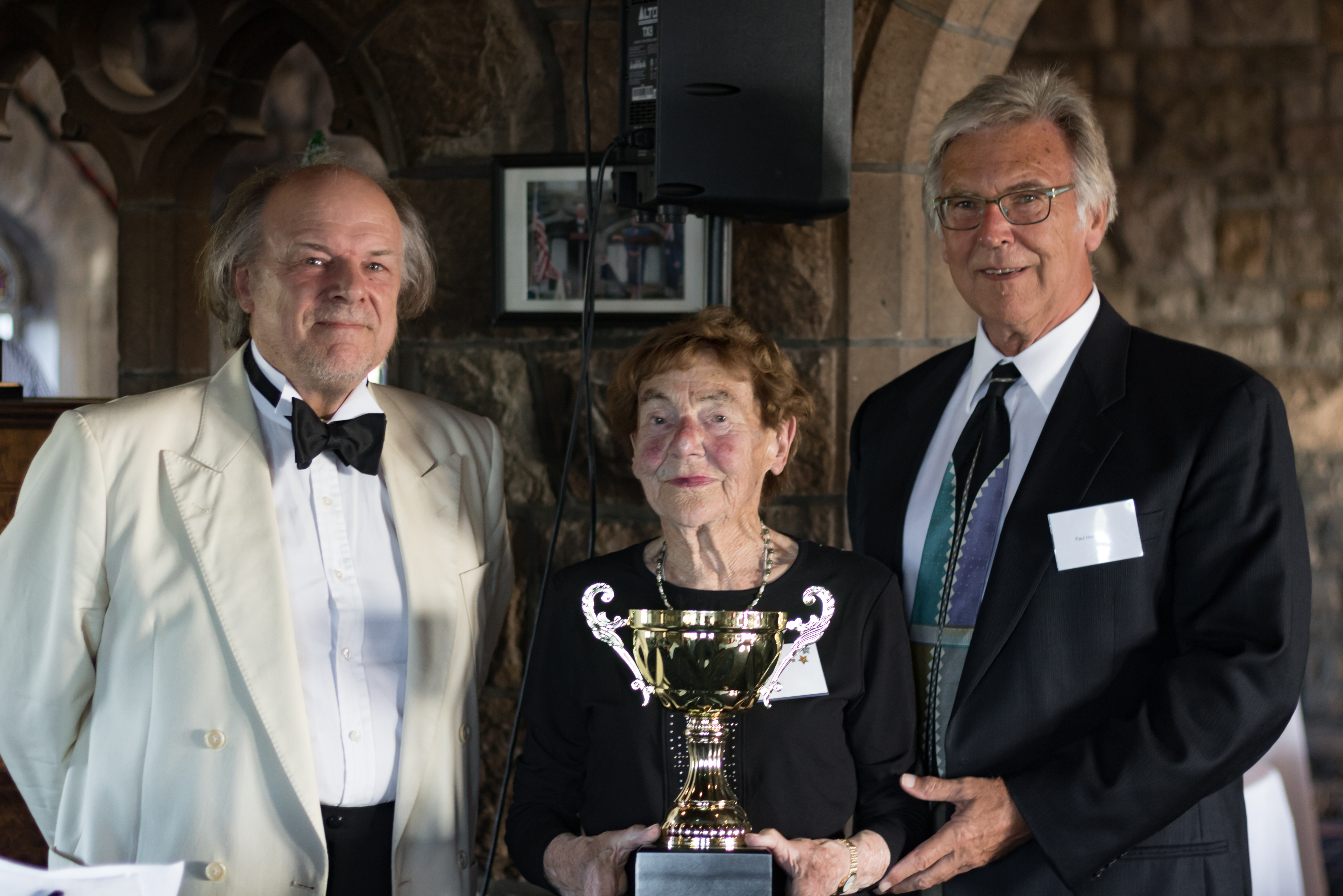 Haydn Rawstron, Evelyn Harding and Paul Harding